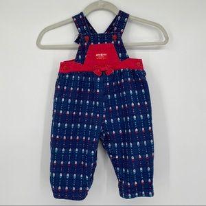OshKosh vintage vestbak bib overalls girls size 2T